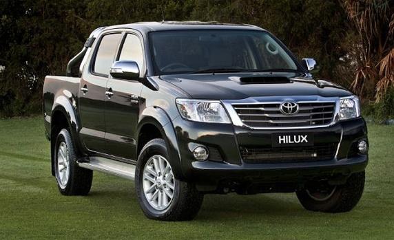 Toyotas Hilux com capacidade para 4 passageiros + motorista